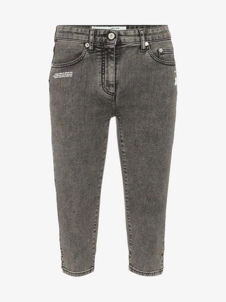 Off-White denim capri trousers cover image