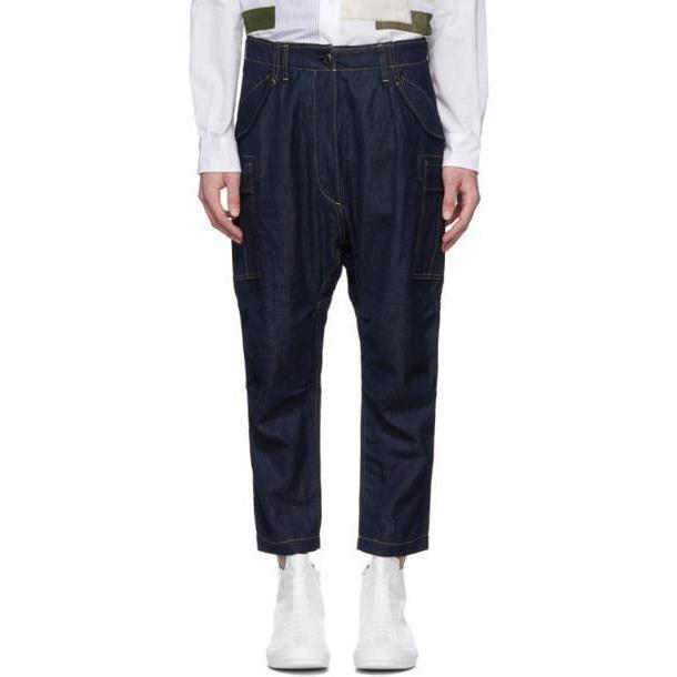 Junya Watanabe Indigo Cotton & Linen Denim Trousers cover image
