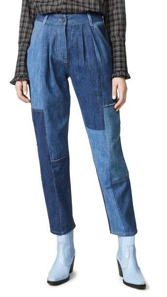 Coach 1941 Denim Patchwork Pleated Trousers cover image