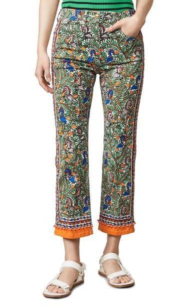 Tory Burch Printed Denim Pants cover image