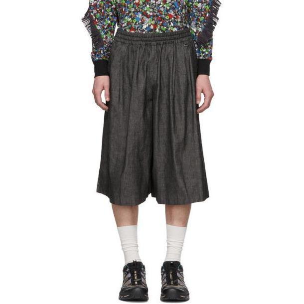 Facetasm Black Washed Denim Trousers cover image