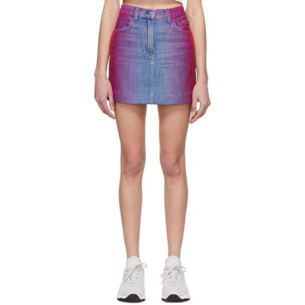 Jordache Multicolor Rainbow Denim Miniskirt cover image