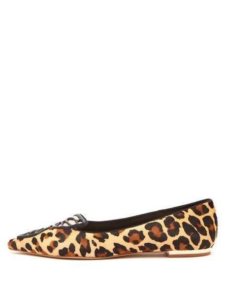 Sophia Webster - Bibi Butterfly Leopard Print Calf Hair Flats - Womens - Leopard cover image
