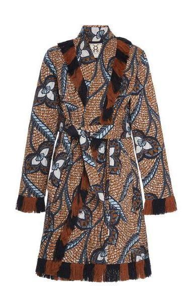 Figue Cassandra Cotton Coat in multi cover image