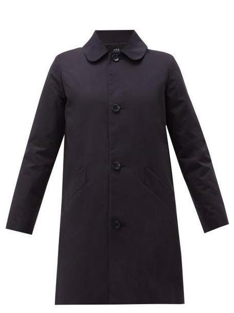 A.P.C. A.p.c. - Poupée Cotton Blend Gabardine Coat - Womens - Navy cover image