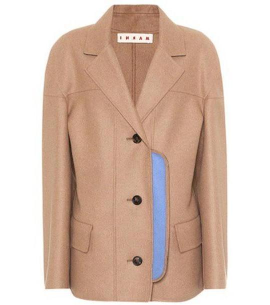 Marni Wool-blend coat in beige / beige cover image