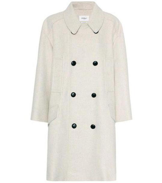 Isabel Marant, Étoile Flicka wool-blend coat in beige / beige cover image