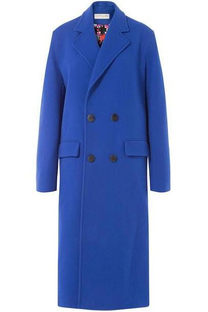 Emilio Pucci Wool Coat with Cashmere  in blue cover image