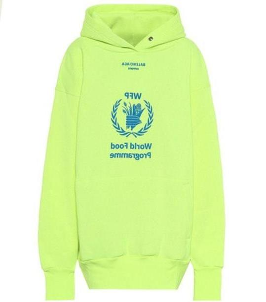 Balenciaga Cotton-blend hoodie in yellow cover image
