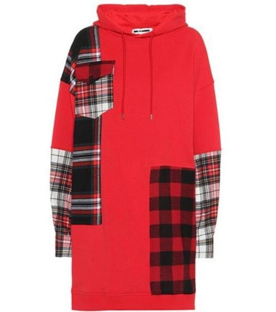 McQ Alexander McQueen Plaid patch cotton hoodie in red cover image