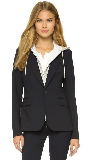 Veronica Beard Classic Jacket With Hoodie Dickey - Navy cover image