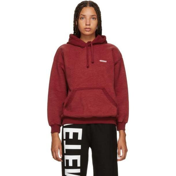 Vetements Red Fitted Inside-Out Hoodie cover image