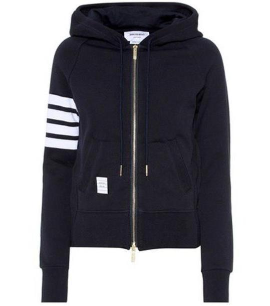 Thom Browne Cotton hoodie in blue cover image