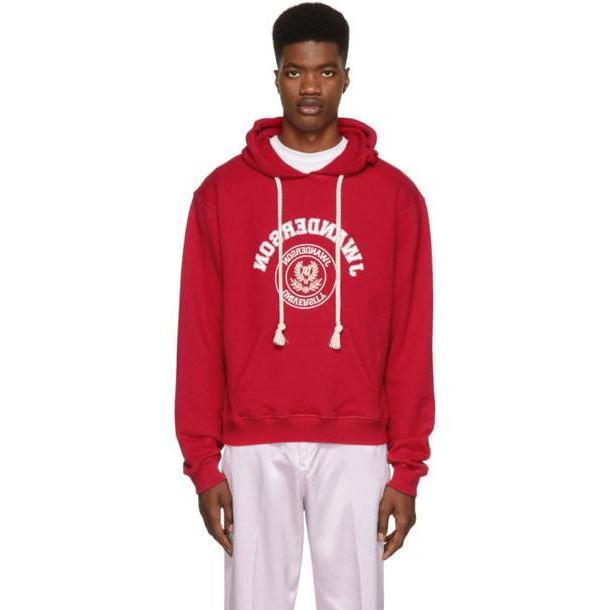 JW Anderson Red University Logo Hoodie cover image