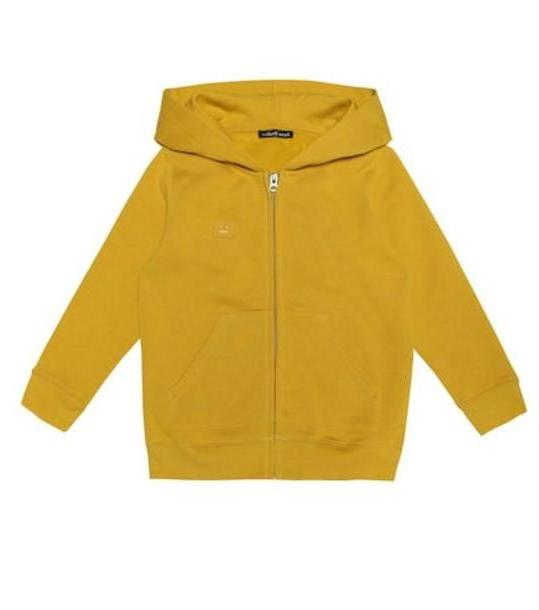 Acne Studios Kids Mini Ferris Face cotton hoodie in yellow cover image