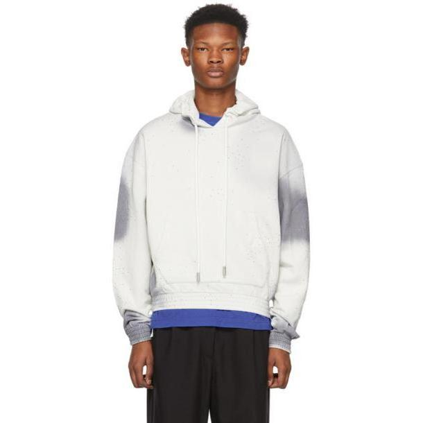 Off-White Grey Spray Over Hoodie cover image