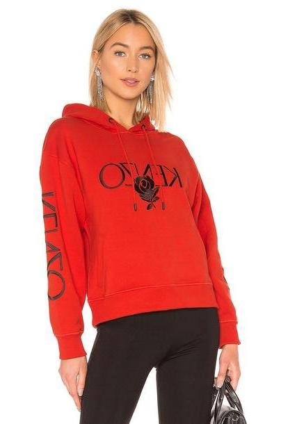 Kenzo Bold Hoodie in red cover image