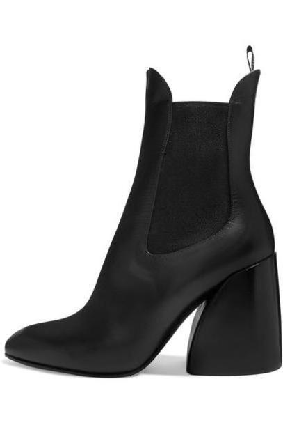 Chloé Chloé - Wave Leather Ankle Boots - Black cover image