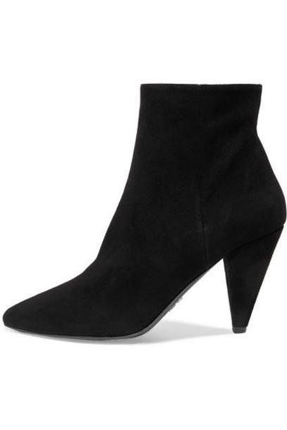 Prada - 90 Suede Ankle Boots - Black cover image