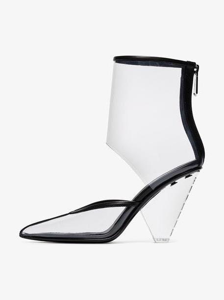 Balmain Transparent 95 PVC Ankle Boots cover image