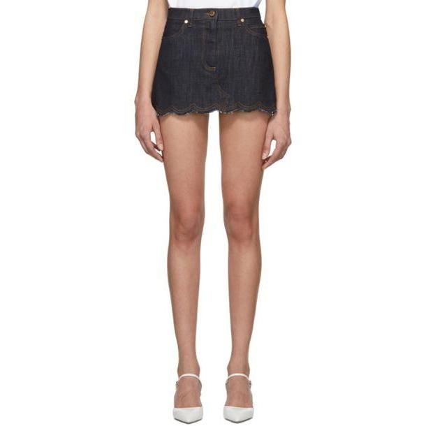 RED Valentino Blue Denim Miniskirt cover image