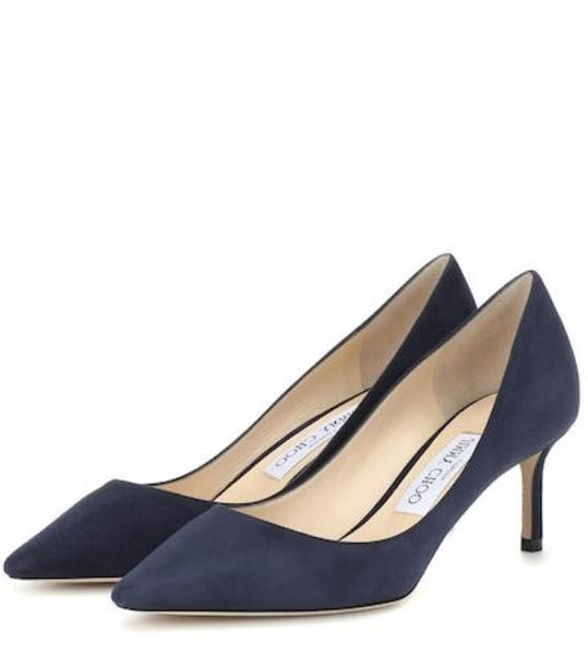 Jimmy Choo Romy 60 suede pumps in blue cover image