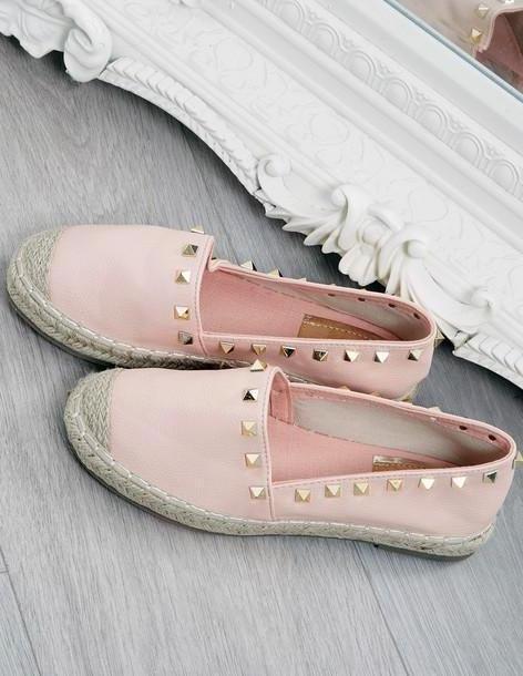 Blue Vanilla KAUAI - Pink Studded Espadrille Pumps cover image