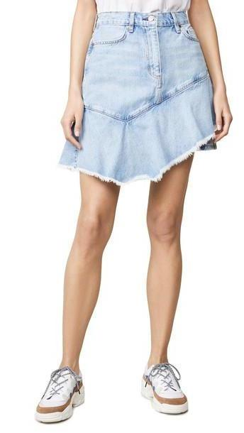 ei8htdreams Asymmetrical Ruffle Denim Skirt cover image