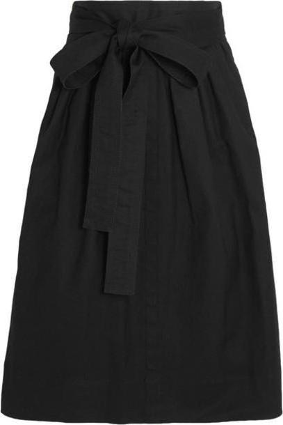 Marc Jacobs - Belted Denim Midi Skirt - Black cover image