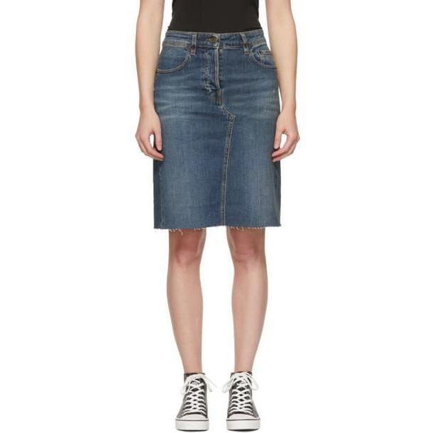 6397 Blue Denim Cut-Off Skirt cover image