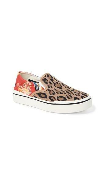 R13 Slip On Sneakers in red / leopard cover image