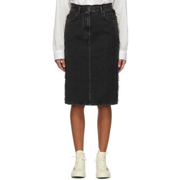 Acne Studios Black Denim Ilyssia Skirt cover image