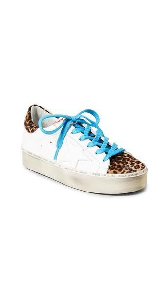 Golden Goose Hi Star Sneakers in white / leopard cover image