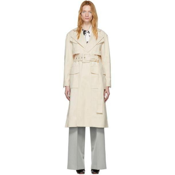 Proenza Schouler Off-White Canvas Denim Trench Coat cover image