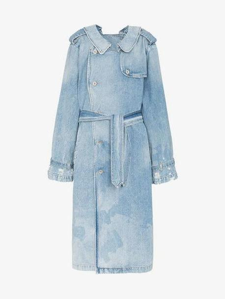 Unravel Project double-sided denim trench coat cover image