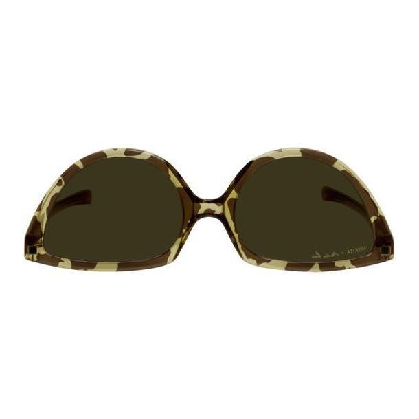 Martine Rose Brown & Tan Mykita Edition Leopard SOS Sunglasses cover image