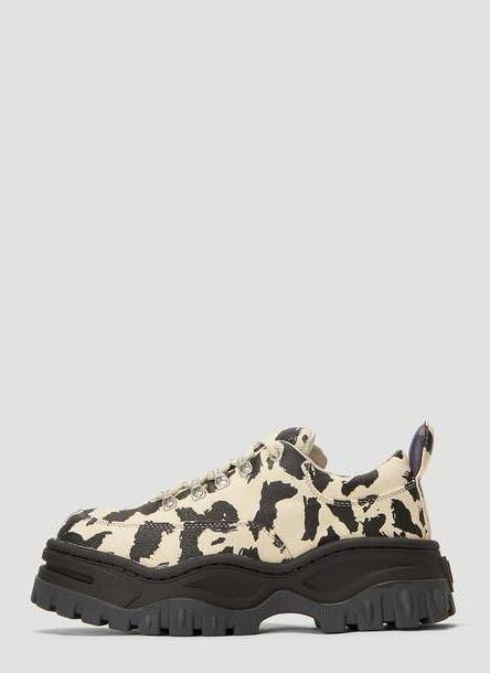 Eytys Angel Leopard Print Sneakers in Black size EU - 37 cover image