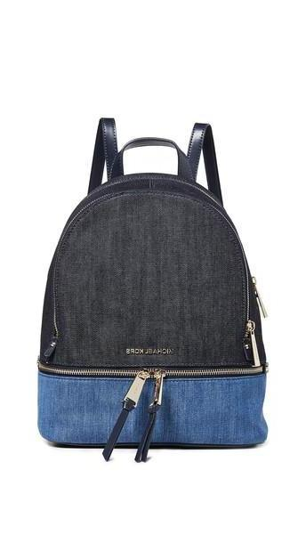 MICHAEL Michael Kors Rhea Zip Medium Backpack in denim / multi / denim cover image