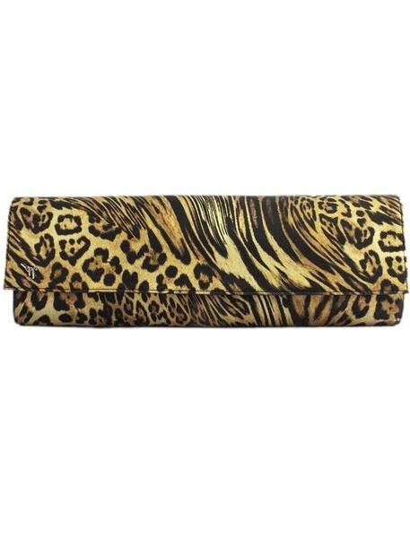 Giuseppe Zanotti Leopard-print Satin Clutch cover image