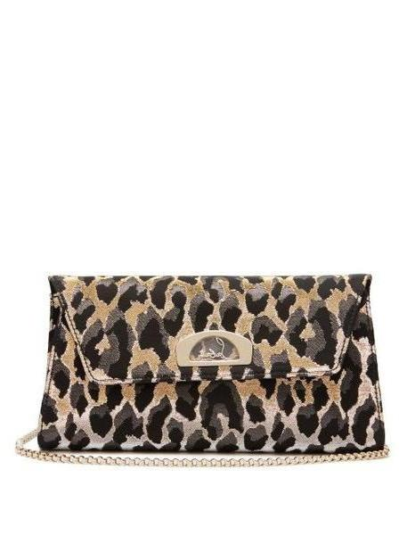 Christian Louboutin - Vero Dodat Leopard Jacquard Clutch - Womens - Leopard cover image