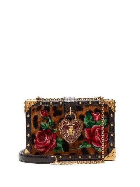 Dolce & Gabbana - Leopard Print My Heart Velvet Box Clutch Bag - Womens - Leopard cover image