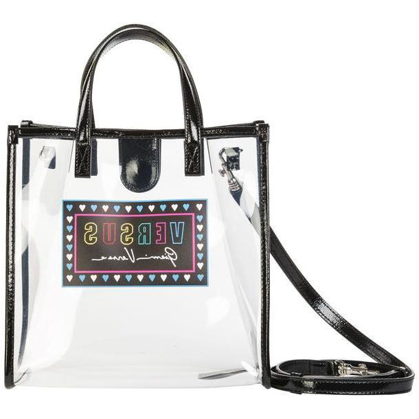 Versus Versace Women's Handbag Cross-body Messenger Bag Purse in transparent cover image