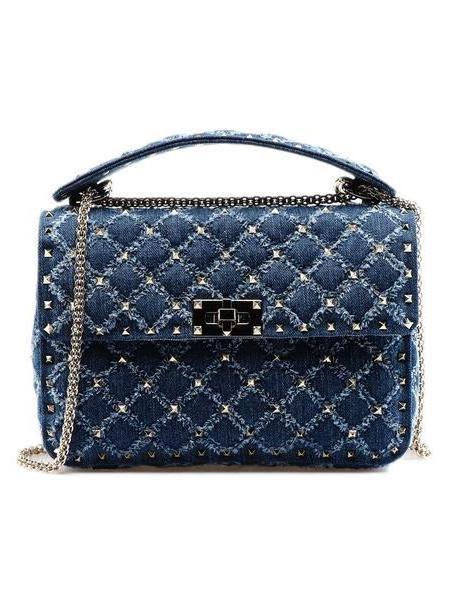 Valentino Garavani Rockstud Spike Md Shoulder Bag in denim / denim cover image