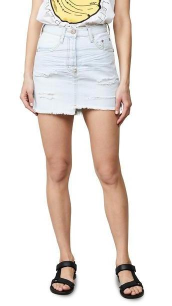 One Teaspoon Brando Denim Miniskirt cover image