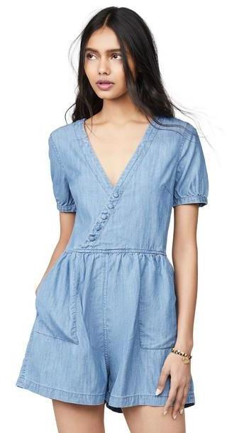 Madewell Denim Wrap Retro Romper cover image