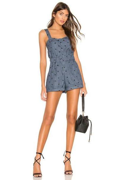 Tularosa Dylan Romper in blue / denim cover image