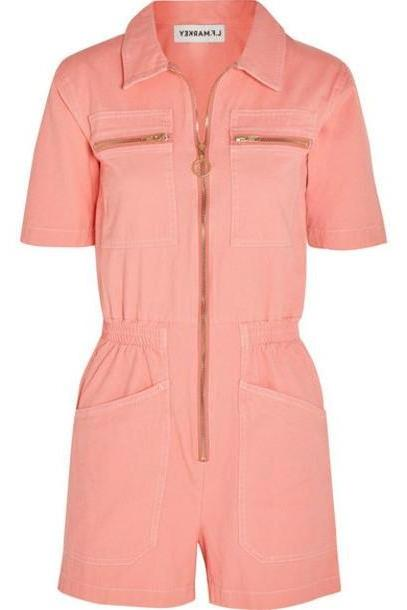 L.F.Markey - Denim Playsuit - Pink cover image