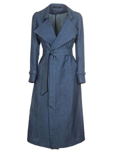 Tagliatore Carola/s Coat in denim / denim cover image