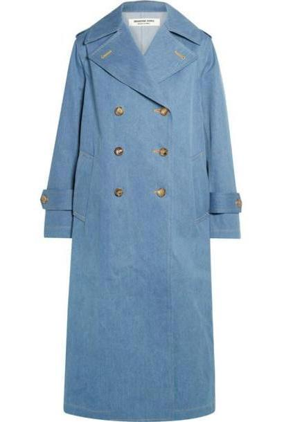 Junya Watanabe - Double-breasted Denim Trench Coat - Blue cover image