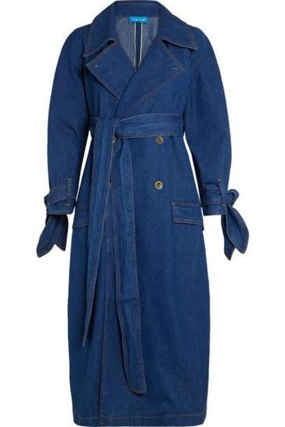 M.i.h Jeans - Audie Belted Denim Trench Coat - Mid denim cover image